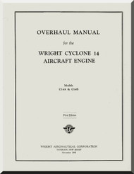 Wright R-2600 Cyclone 14 AB  Aircraft Engine Overhaul Manual  ( English Language )
