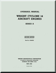 Wright R-2600 Cyclone 14 A Aircraft Engine Overhaul Manual - 1943