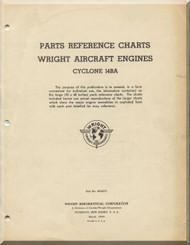 Wright R-2600 Cyclone 14 BA  Aircraft Engine Parts References Charts Manual  ( English Language )