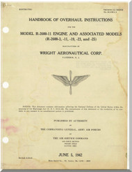 Wright R-2600 - 3 -11 -19 -23 -25 Cyclone 14 Aircraft Engine Overhaul Manual - 1942