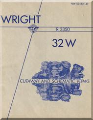 Wright R-3350 -32 W Aircraft Engine Cutaway Manual