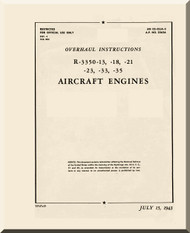 Wright R-3350 Cyclone 13, -18, -21 -23, -23, -33, -35 Aircraft Engine Service Manual - 1943
