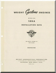 Wright Cyclone R-3550 18 BA Aircraft Engine Installation Data Manual