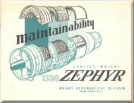Bristoll / Curtiss wright / Olympuse 551 / TJ-38 Zephyr  Aircraft Engine Brochure   Manual