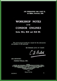 "Rolls Royce "" Condor ""  Aircraft Engine Workshop Notes Manual  ( English Language )"