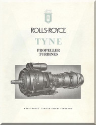 "Rolls Royce "" Tyne ""  Aircraft Engine Technical Brochure Manual  ( English Language )"