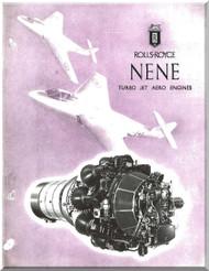 "Rolls Royce "" Nene ""  Aircraft Engine Technical Brochure Manual  ( English Language )"