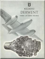 Rolls Royce Derwent Aircraft Engine Brochure Manual