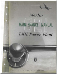Rolls Royce Merlin 621 Aircraft Engine Maintenance Manual,    (English Language )