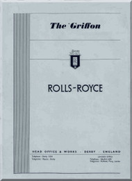 "Rolls Royce "" Griffon "" Mk.57A and 58  Aircraft Engine Technical  Manual  ( English Language )"