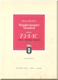 Rolls Royce Merlin 724-1C  Aircraft Engine Maintenance Manual