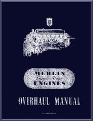 Rolls Royce Merlin Aircraft Engine Maintenance Manual - TSD 293