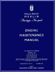 Rolls Royce Merlin Aircraft Engine Maintenance Manual - TSD 94