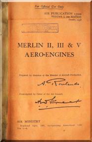 Rolls Royce Merlin II, III & V Aircraft Engine Manual - 1938