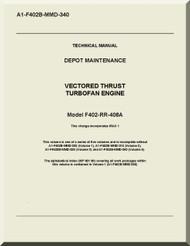 Rolls Royce F404-RR-406 A   Aircraft Engine  Depot Maintenance 1-F402B-MMD-340