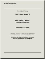 Rolls Royce F404-RR-406 A   Aircraft Engine  Depot Maintenance A1-F402B-MMD-330