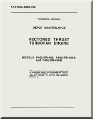 Rolls Royce F404-RR-406 A   B Aircraft Engine  Depot Maintenance A1-F402-MMD-320