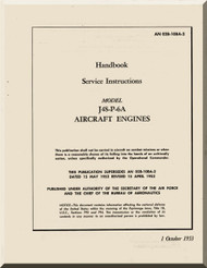 Pratt & Whitney J48-P-6  Aircraft Engine Service Instruction Handnook  Manual  -1953 AN 02B-10BA-2