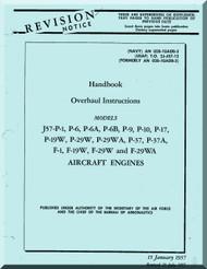Pratt & Whitney J57-P-1, P-6, P-6B, P-9, P-10, P-17, P-19W, P-29W, P-29WA, P-37, P-37A, F-1, F-19W, F-29W and F-29WA  Aircraft Engine Overhaul  Manual -1957, AN 02B-10ADB-3, T.O. 2J-57-13