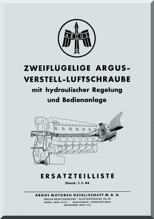 Argus Aircraft Propeller VLS con Hydraulic Control Parts