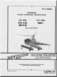Sikorsky USAF H-5 F G H , NAVY HO3S-1 Helicopter Handbook Flight Operating Instructions AN 01-23OHBA-1