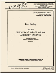 Pratt & Whitney R-985 -AN-1 -3 -14B -39A Aircraft Engine Parts Manual 02A-10AB-4A - 1957
