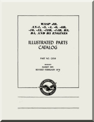 Pratt & Whitney R-985 -AN-1 -3 -6 -12 -14B -39B3-B4 B-5 Aircraft Engine Parts Catalog Manual  ( English Language  )  - 1978