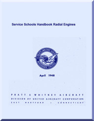 Pratt & Whitney Aircraft Engines Radial Service School Handbook Manual - 1948