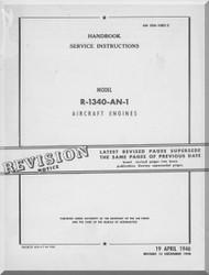 Pratt & Whitney R-1340 AN-1 Aircraft Engine Service Manual 02A-0DC-2 - 1946