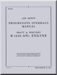 Pratt & Whitney R-1340 AN-1 Aircraft Engine Progressive Overhaul Manual