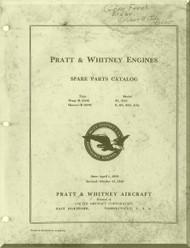 Pratt & Whitney R-1340  H1, H1G  R-1690 E, EG, E2G, E3G Aircraft Engine Illustrated Parts Catalog  Manual