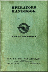 Pratt & Whitney R-1690 Hornet  Aircraft Engine Handbook   Manual
