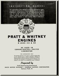 Pratt & Whitney R-1830 45 - 65  Aircraft Engine Instructional Manual