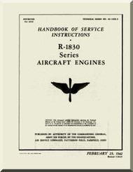 Pratt & Whitney R-1830 Aircraft Engine Service Manual - 1942