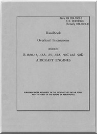 Pratt & Whitney R-1830 -43 -43A -65 -65A -90C -90D  Aircraft Engine Overhaul Manual