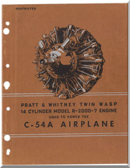 Pratt & Whitney R-2000 -7 Aircraft Engine Graphics Assembly Part Manual