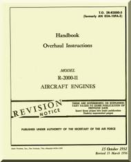Pratt & Whitney R-2000 -11 Aircraft Engine Overhaul Manual 2R-R2000-3 -1951
