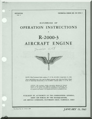 Pratt & Whitney R-2000 -3 Aircraft Engine Operation Manual
