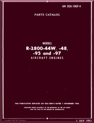 Pratt & Whitney R-2800 -44W -48 -95 -97  Aircraft Engine Parts Catalog Manual