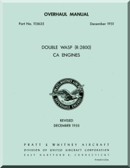 Pratt & Whitney R-2800 CA Aircraft Engine Overhaul Manual - 1951