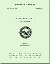 Pratt & Whitney R-2800 CB Aircraft Engine Maintenance Manual -1955