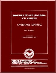 Pratt & Whitney R-2800 CB Aircraft Engine Overhaul Manual -1957