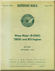 Pratt & Whitney R-4360 TSB3- G B13 Aircraft Engine Maintenance Manual