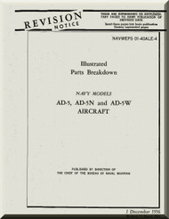 Douglas AD-5 Aircraft Illustrated Parts Breakdown  Manual  A.N. 01-40ALE-4 , 1956