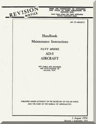 Douglas AD-5 Aircraft Handbook Maintenance Instruction  Manual  A.N. 01-40ALE-2 , 1955