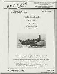 Douglas AD-6   Aircraft Flight  Manual  AN. 01-40ALF-1 , 1954