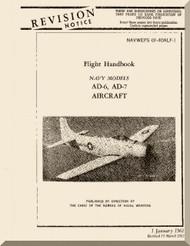 Douglas AD-6 , AD-7  Aircraft Flight  Manual  AN. 01-40ALF-1 , 1961