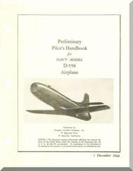 Douglas D-558-1  Aircraft  Pilot's Handbook  Manual  ,   1946