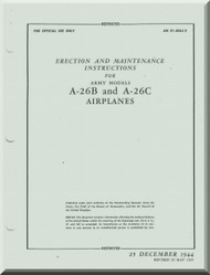 Douglas A-26  Aircraft Erection & Maintenance  Manual  AN 01-40J-2 , 1944