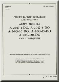 Douglas A-20 G-1, -5 , -10 -15, -20 DO  Aircraft Pilot's Handbook  Manual  AN 01-40AL-1 , 1943